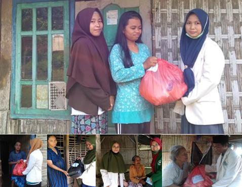HIMA PAI STAIHA BAWEAN: Membagikan 200 Paket Sembako Kepada Dhuafa dan Anak Yatim